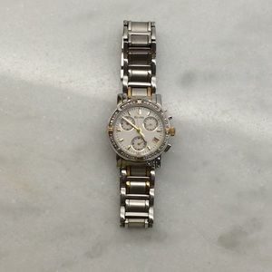 Bulova silver with gold accents watch